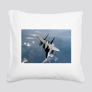 Fighter Jet Square Canvas Pillow