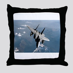 Fighter Jet Throw Pillow