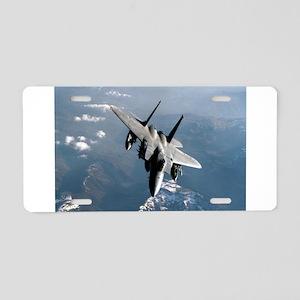 Fighter Jet Aluminum License Plate