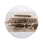 1909 Pumping Station Ornament (Round)