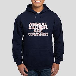 Animal abusers are cowards - Hoodie (dark)