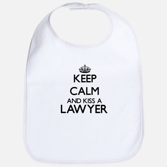Keep calm and kiss a Lawyer Bib