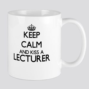 Keep calm and kiss a Lecturer Mugs