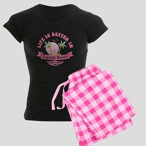 Life's Better In Laguna Beac Women's Dark Pajamas