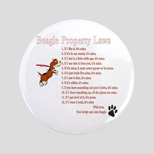 "Beagle Property Laws 3.5"" Button"