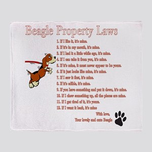 Beagle Property Laws Throw Blanket