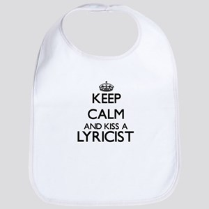 Keep calm and kiss a Lyricist Bib