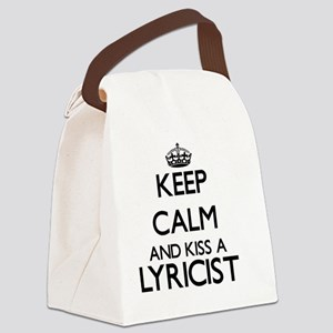 Keep calm and kiss a Lyricist Canvas Lunch Bag