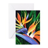 Hawaiian flowers Greeting Cards (10 Pack)