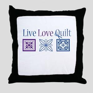 Live Love Quilt Throw Pillow