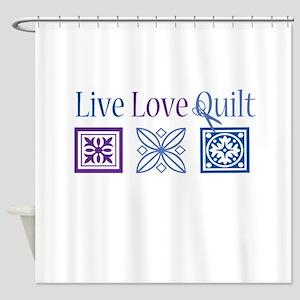 Live Love Quilt Shower Curtain