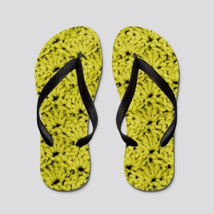 Cute Golden Yellow Crochet Flip Flops