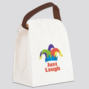 Just Laugh Canvas Lunch Bag
