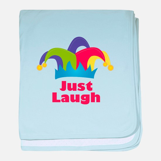 Just Laugh baby blanket