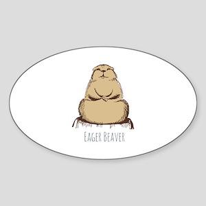 Eager Beaver Sticker