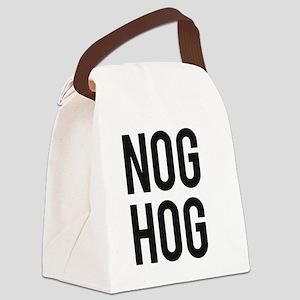 Nog Hog Eggnog Canvas Lunch Bag