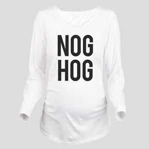 Nog Hog Eggnog Long Sleeve Maternity T-Shirt