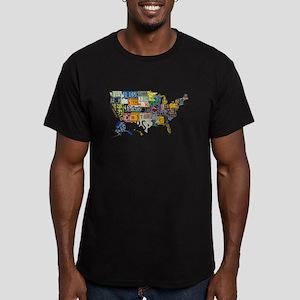 america license Men's Fitted T-Shirt (dark)