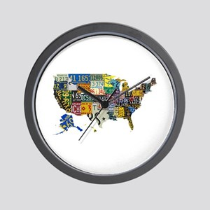 america license Wall Clock