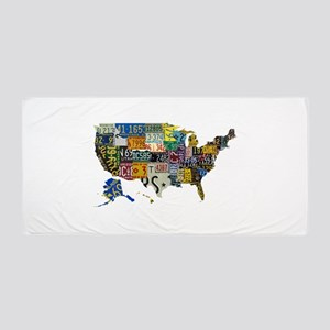 america license Beach Towel