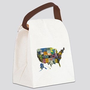 america license Canvas Lunch Bag