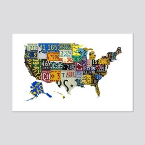 america license Mini Poster Print