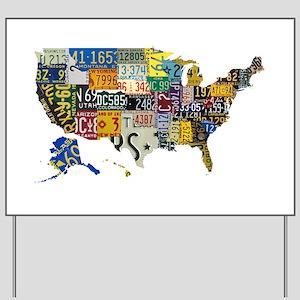 america license Yard Sign