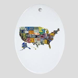 america license Ornament (Oval)