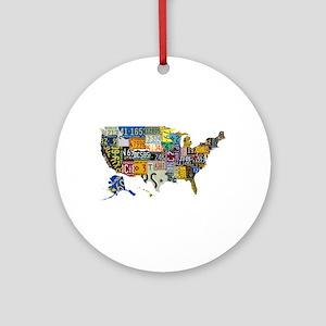 america license Ornament (Round)