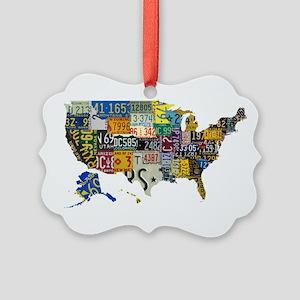 america license Picture Ornament