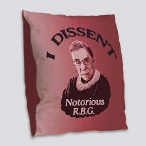 Notorious RBG -p Burlap Throw Pillow
