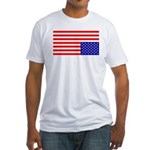 Upsidedown Flag #1 Fitted T-Shirt