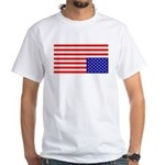 Upsidedown Flag #1 White T-Shirt