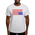 Upsidedown Flag #1 Ash Grey T-Shirt