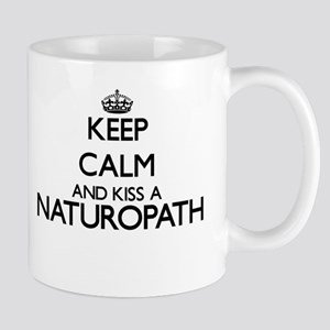 Keep calm and kiss a Naturopath Mugs