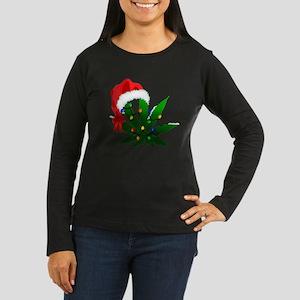 Weed Holiday Tree Long Sleeve T-Shirt