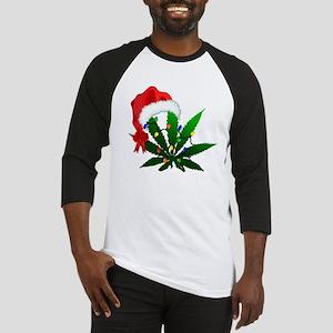Weed Holiday Tree Baseball Jersey