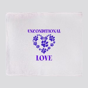 Unconditional Love Throw Blanket