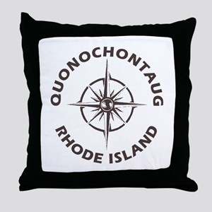 Rhode Island - Quonochontaug Throw Pillow