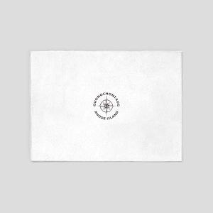 Rhode Island - Quonochontaug 5'x7'Area Rug