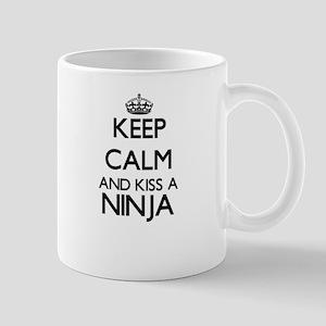 Keep calm and kiss a Ninja Mugs