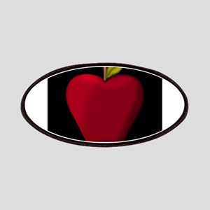 Red Apple on Black Patches