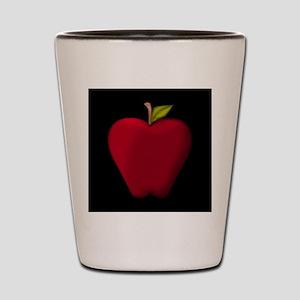 Red Apple on Black Shot Glass