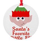 Santas Favorite Little Elf Ornament