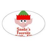 Santas Favorite Little Elf Sticker