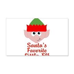 Santas Favorite Little Elf Wall Decal