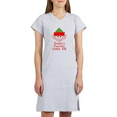 Santas Favorite Little Elf Women's Nightshirt
