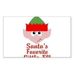 Santas Favorite Little Elf Decal