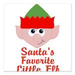 Santas Favorite Little Elf Square Car Magnet 3