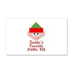 Santas Favorite Little Elf Car Magnet 20 x 12